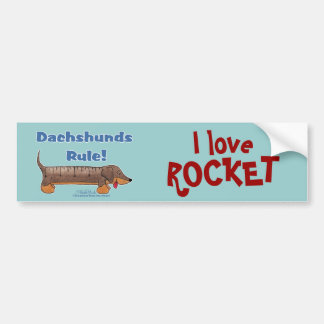 Dachshunds Rule Bumper Sticker