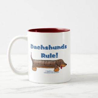 Dachshunds Rule Coffee Mugs