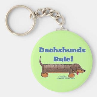 Dachshunds Rule Key Ring
