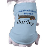 Dachshunds Rule Sleeveless Dog Shirt