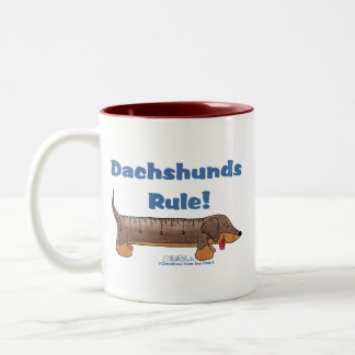 Dachshunds Rule Two-Tone Coffee Mug