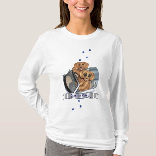 Dachshunds Rule !! Women Long Sleeve Shirt