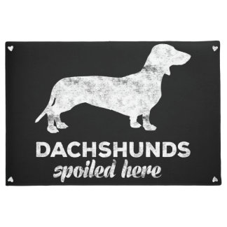 Dachshunds Spoiled Here Doormat