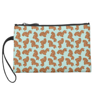 Dachshunds! Suede Wristlet