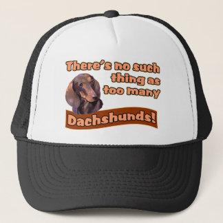 DACHSHUNDS TRUCKER HAT