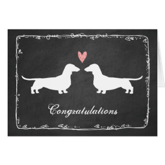 Dachshunds Wedding Congratulations Greeting Card