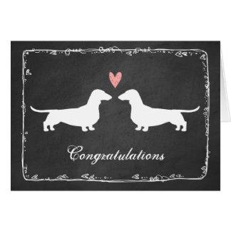 Dachshunds Wedding Congratulations Greeting Card