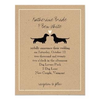 Dachshunds Wedding Invitation