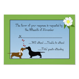 Dachshunds Wedding Response Card