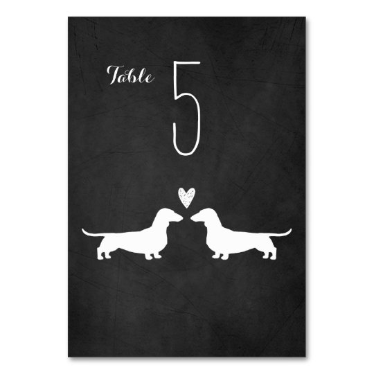 Dachshunds Wedding Table Card