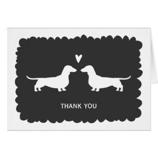 Dachshunds Wedding Thank You Card