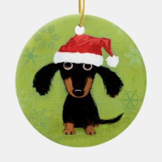 Dachsie Clause Ornaments