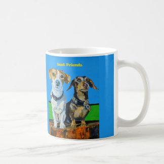 Dachsund and Jack Russell coffee mug