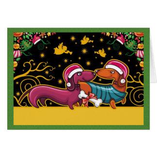 Dachsund Christmas Card