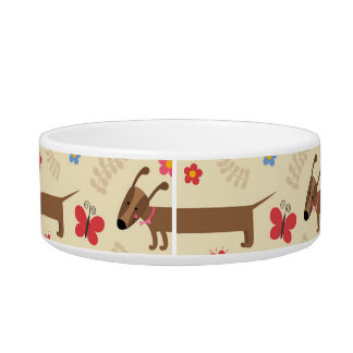 Dachsund Dog Bowl