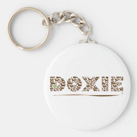 Dachsund Text Basic Round Button Key Ring