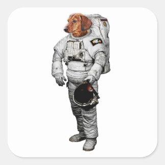 Dackel Astronaut Sticker