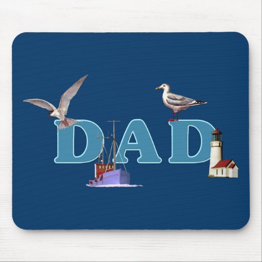 Dad Ahoy Mouse Pad