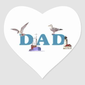 Dad Ahoy Sticker