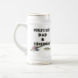 Dad And Fisherman Beer Stein