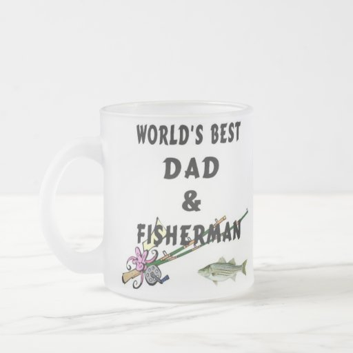 Dad And Fisherman Frosted Glass Mug