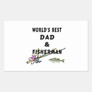 Dad and Fisherman Rectangular Sticker