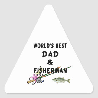 Dad and Fisherman Sticker