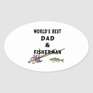Dad and Fisherman Sticker