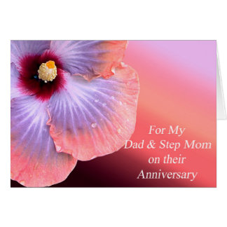 Dad and Step Mom Anniversary Card