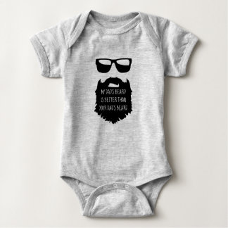 Dad beard Baby One Piece Body Suit Baby Bodysuit