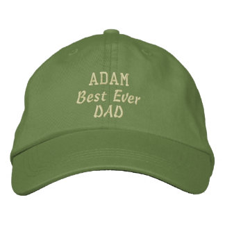 DAD Best Ever Dad Custom Name Father's Day Embroidered Hats