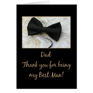 Dad   best man thank you note card