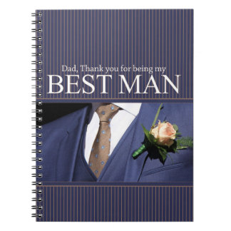 Dad   best man thank you notebook