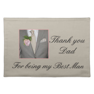 Dad   best man thank you placemat