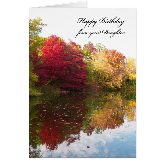 Dad Birthday Card from Daughter -- Autumn Scene