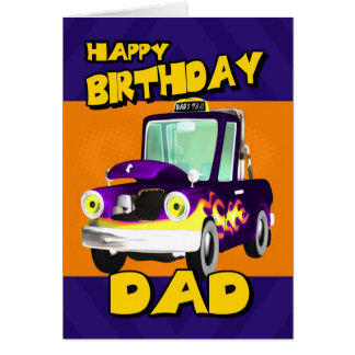 dad birthday card with dad s taxi cartoon pick-up