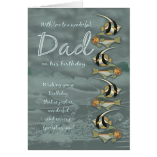 Dad Birthday Card With Fish