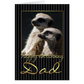 Dad Birthday Card With meerkat
