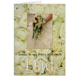 Dad - Bride's Attendant Invitation Greeting Card
