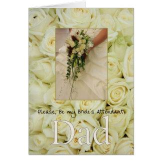 Dad - Bride's Attendant Invitation Greeting Card