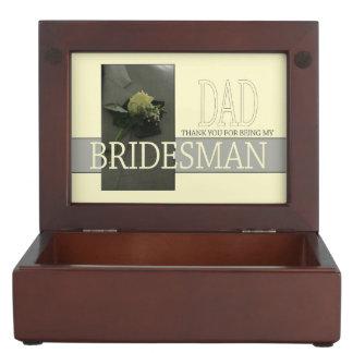 Dad Bridesman thank you Keepsake Box
