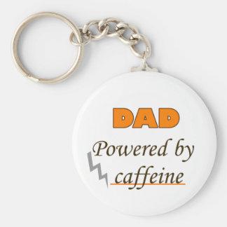 Dad by caffeine basic round button key ring