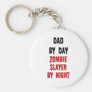 Dad By Day Zombie Slayer By Night Key Ring
