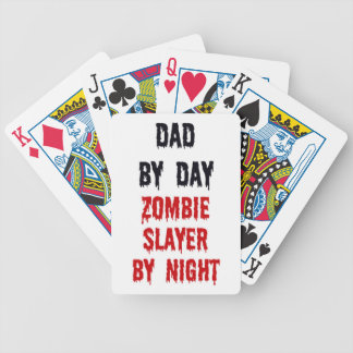 Dad by Day Zombie Slayer by Night Poker Deck