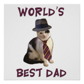 Dad Cat: World's Best Dad Posters