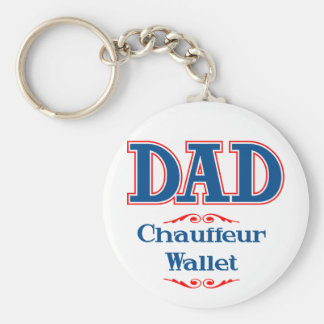Dad Chauffeur Wallet Basic Round Button Key Ring
