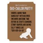 Dad-chelor, Dadchelor, Party Invitation, Manly Man 13 Cm X 18 Cm Invitation Card