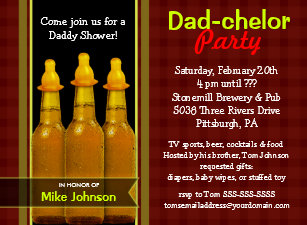For dad baby shower invitations zazzle dad chelor party daddy baby shower invitations filmwisefo