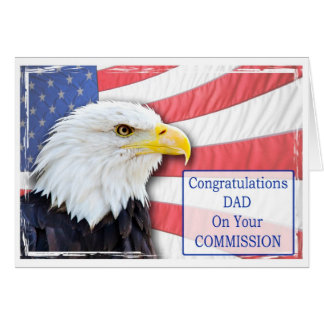 Dad,commissioning with a bald eagle greeting card