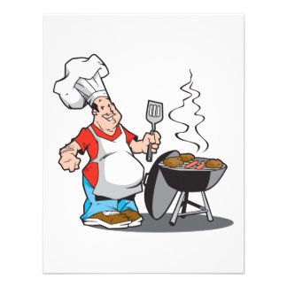 dad cooking on the grill personalized invitations